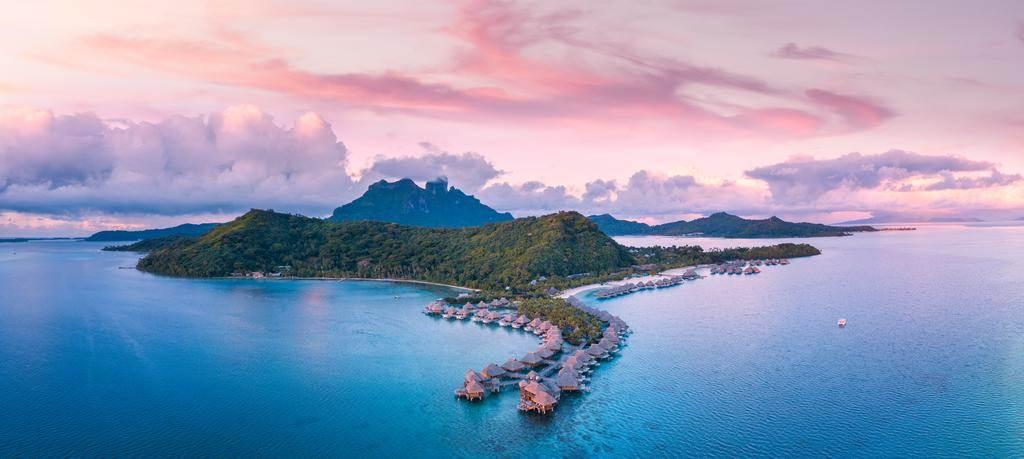 Panorámica de una isla en la Polinesia Francesa