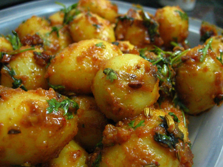 plato de patatas indio