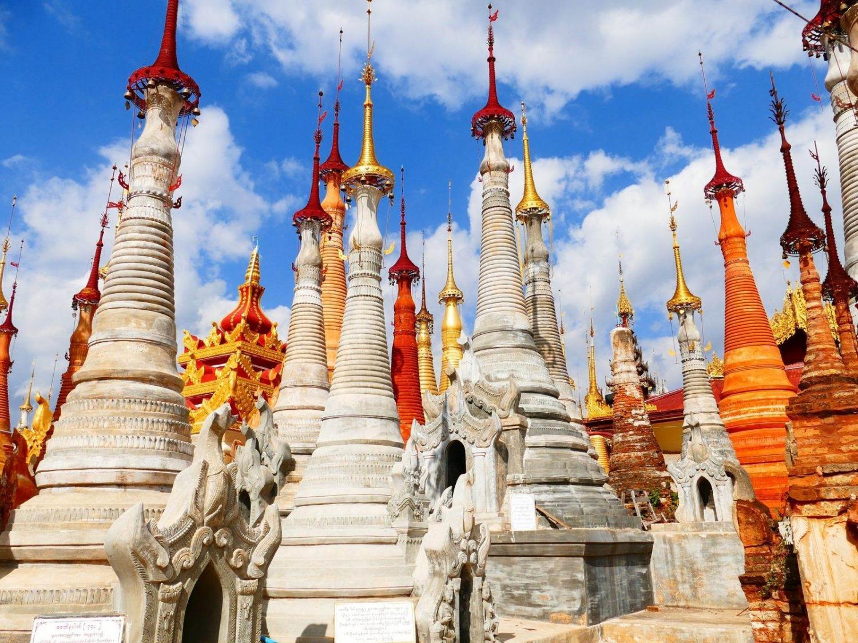 pagodas en Birmania