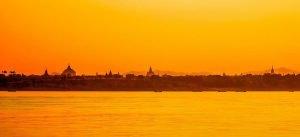 skyline de los templos de Birmania