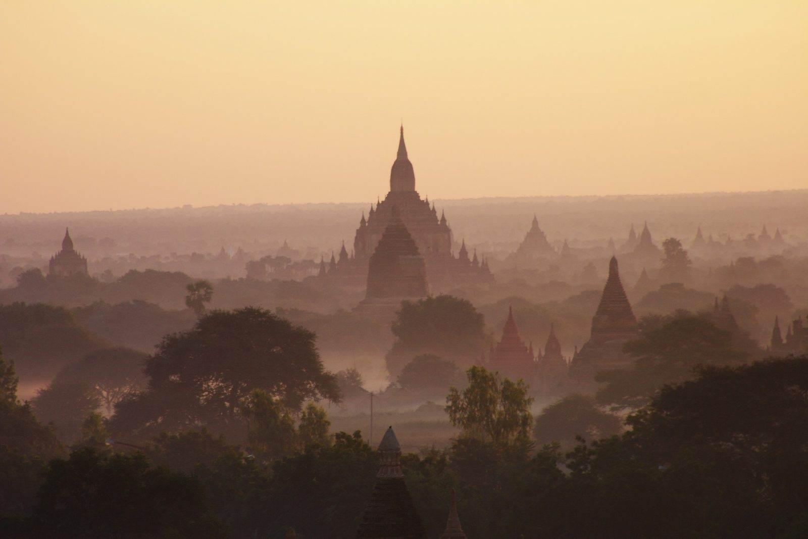 paisaje de Birmania