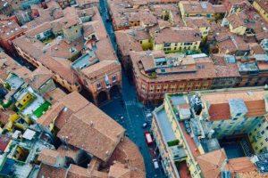 tejados de Bolonia (Italia)