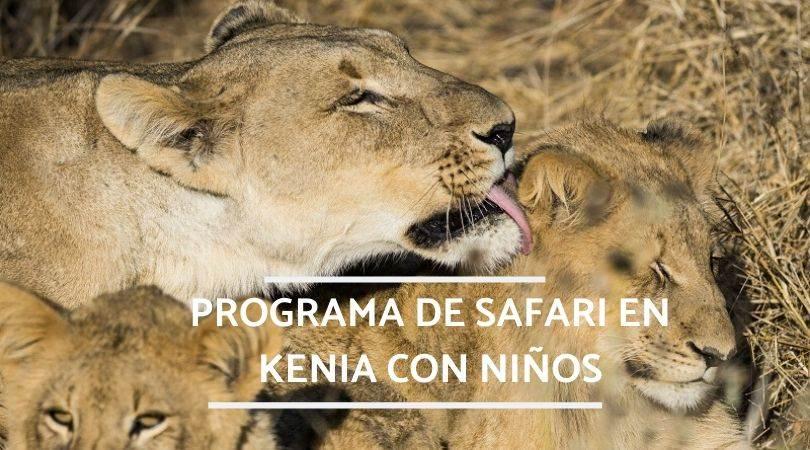 safari con niños programa