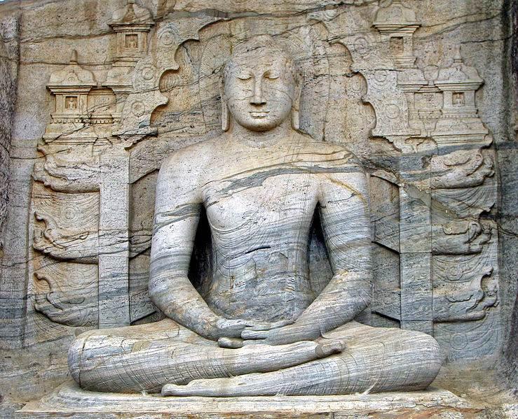 Buda sentado de Gal Vihara - Sri Lanka