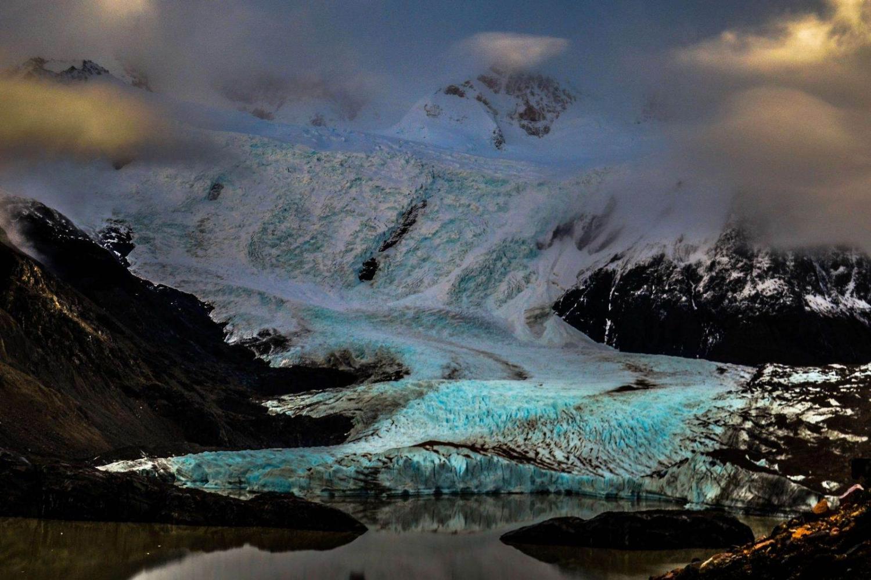 vista panorámica del Glaciar Grande (Argentina)