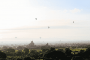 Cielo despejado en Birmania