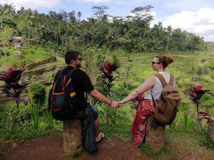 Alejandro y Natalia durante la ruta Ubud