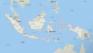 Mapa geográfico de Indonesia