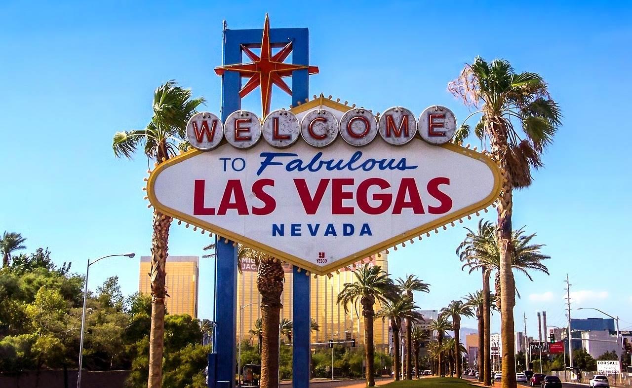 cartel de bienvenida a Las Vegas