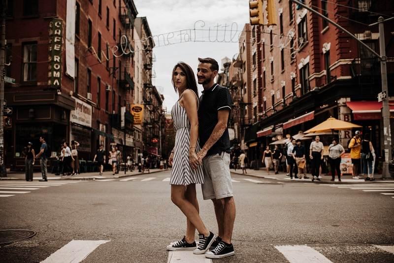 Sheila y Daniel en Little Italy