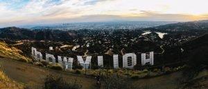 Los Ángeles desde el cartel de Hollywood