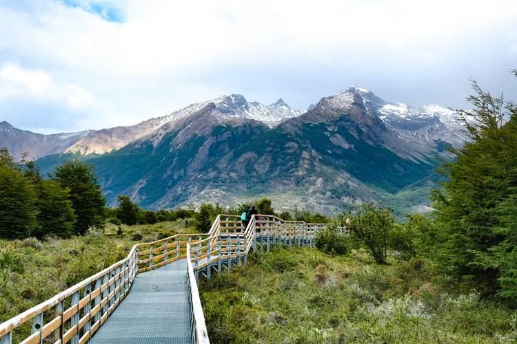Pasarela en el Parque Nacional de los Glaciares