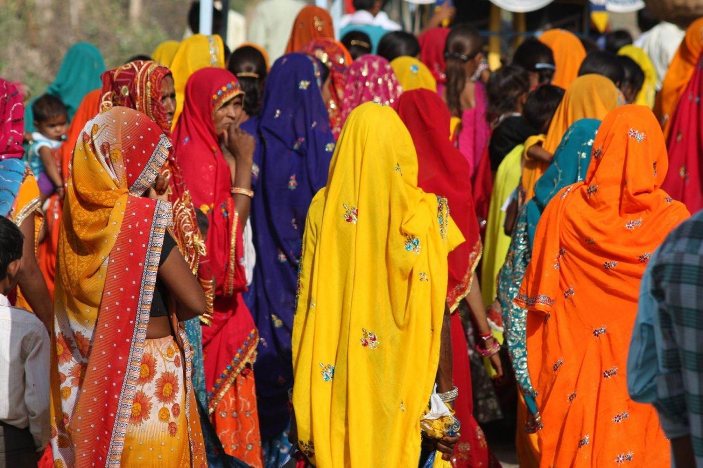 Mujeres vistiendo el Sari