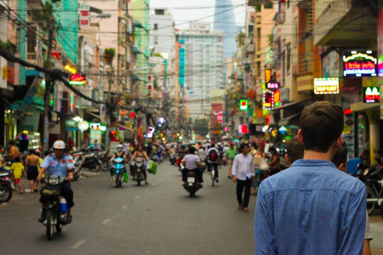 Vista de una calle de Tailandia