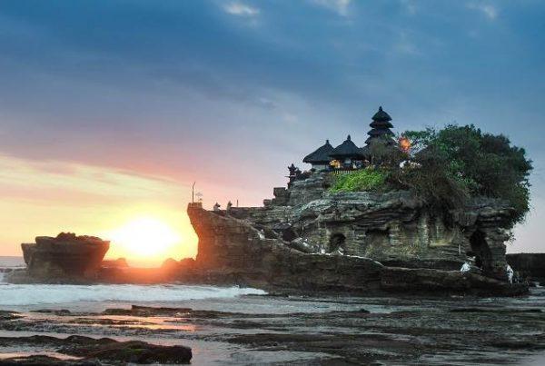 la isla de tanah lot en Bali