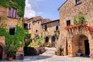 Pueblo de la Toscana