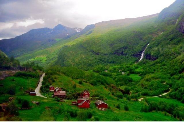 Vistas del tren Flaim Noruega