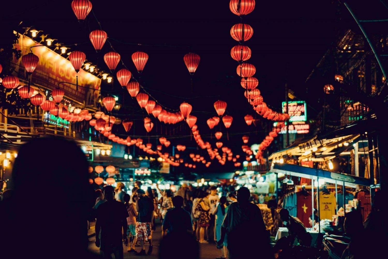 farolillos rojos en Vietnam