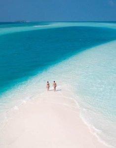 banco de arena Maldivas