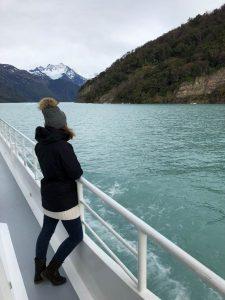 En barco por el lago Argentino