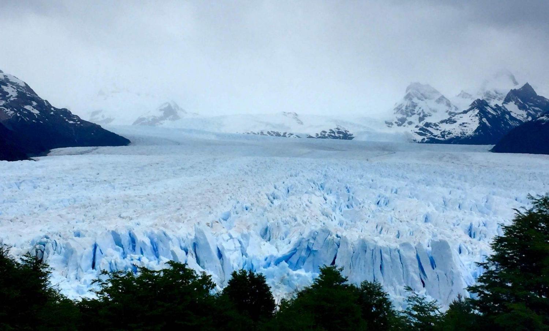 hielo de un glaciar en la patagonia