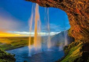 Cascada famosa de Islandia