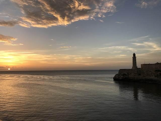 paisaje del mar en Cuba