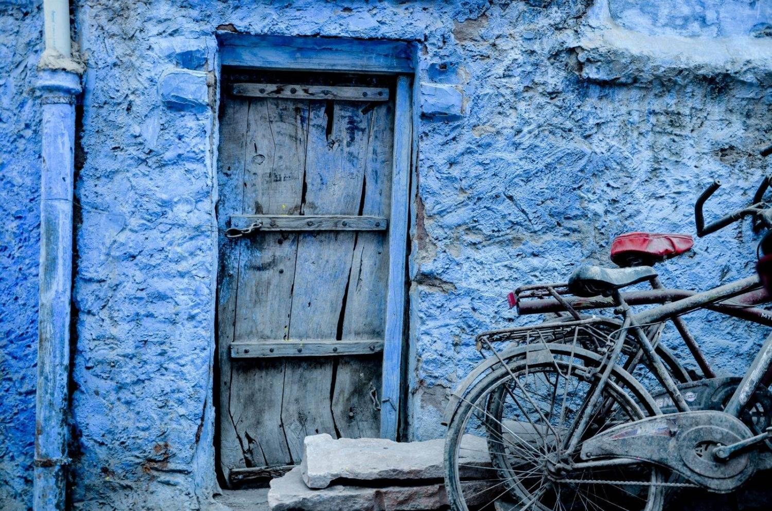 Casa de color azul en Jodhpur (India)