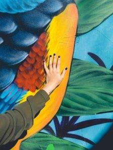 Mano en mural argentino