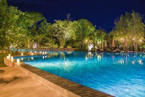 Piscina de hotel en Camboya