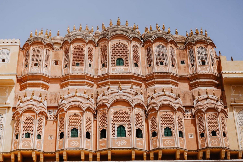 Edificio emblemático en la ciudad de Jaipur, India