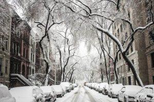 Calles nevadas de Nueva York