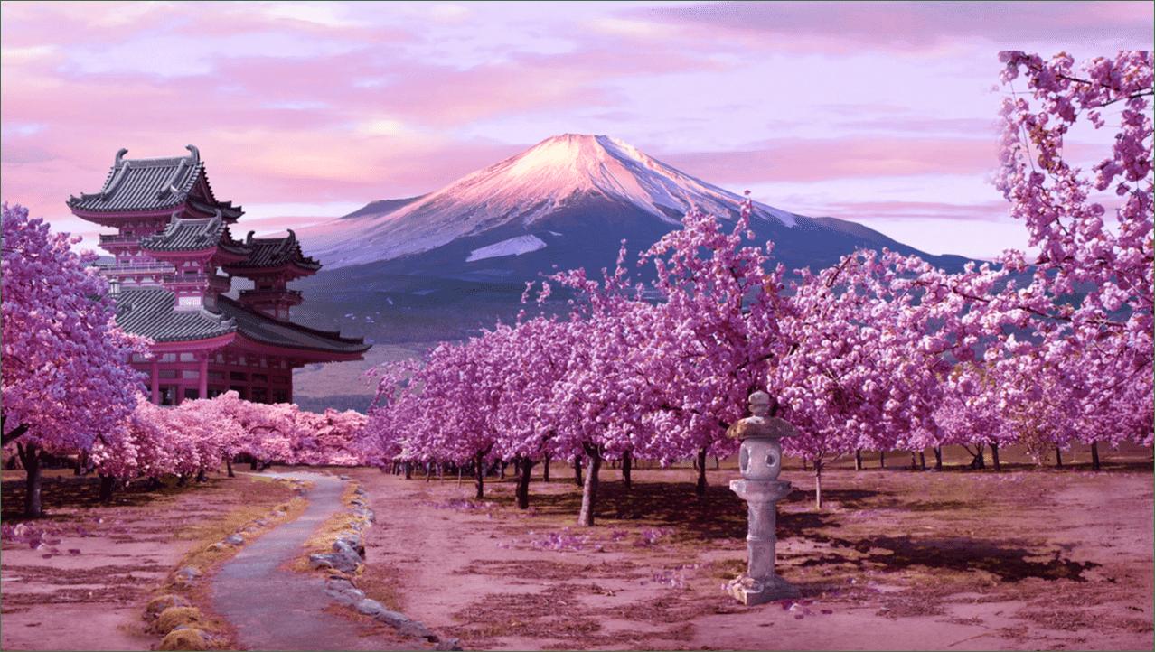 paisaje de Japón