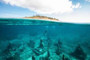 Restos submarinos budistas