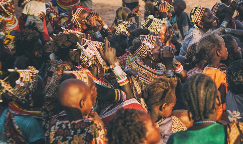 Tribu rendille del norte de Kenia