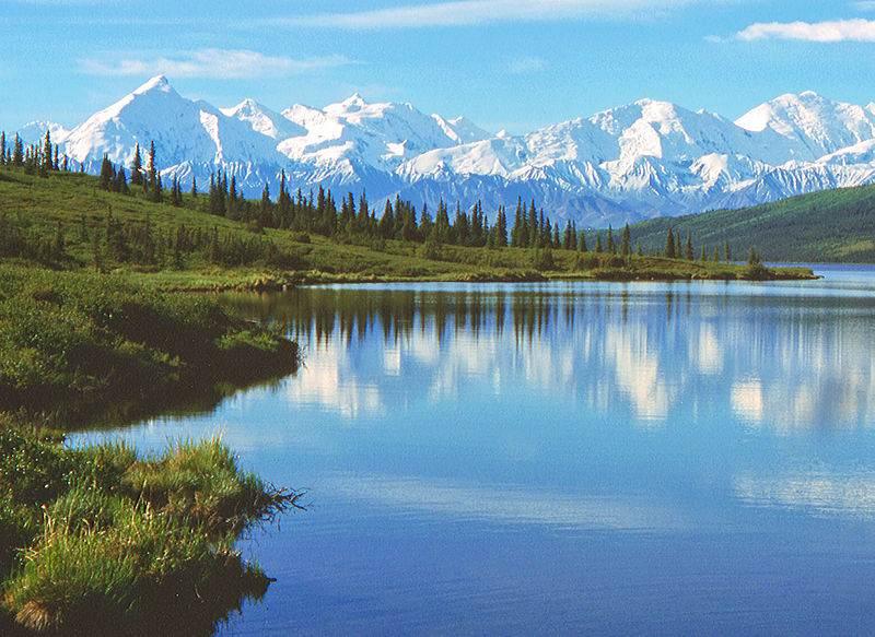 lago y el monte Delani