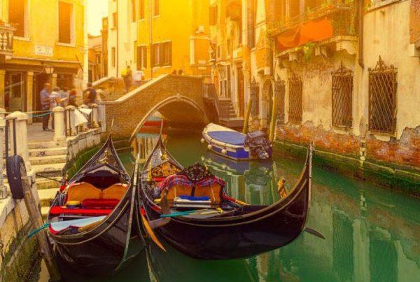 luna de miel romántica Venecia