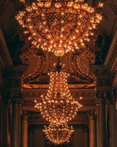 Lámparas de la Ópera de Buenos Aires