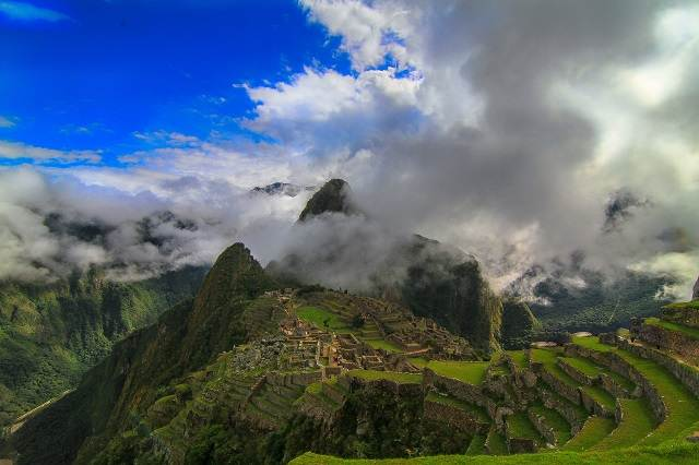 Nubes en Machu Picchu