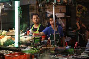 Puesto de comida thai