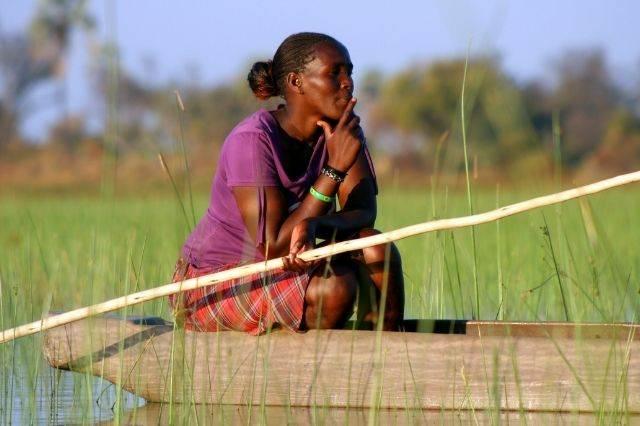Mujer en Botswana