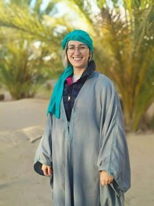 Natalia vestida de bereber