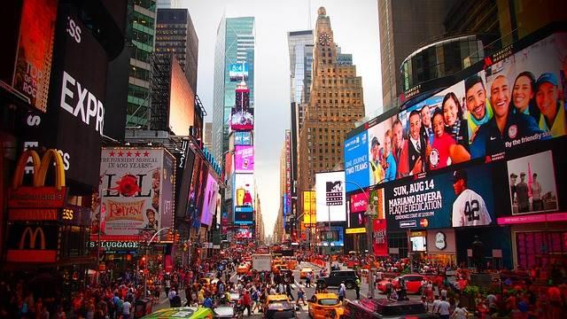 Time Square llena de gente