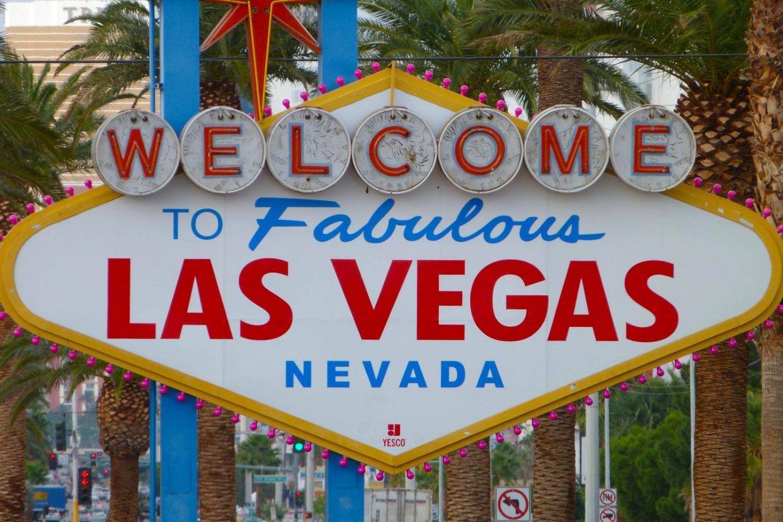 Famoso cartel que da la bienvenida a Las Vegas