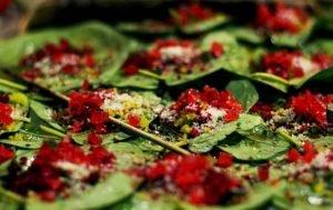 Paan, una deliciosa mezcla de nueces y hojas de Bétel