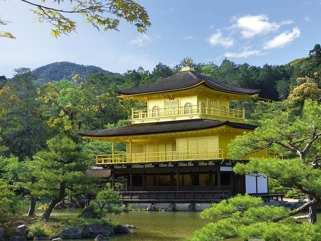 El Pabellón de Oro en Japón