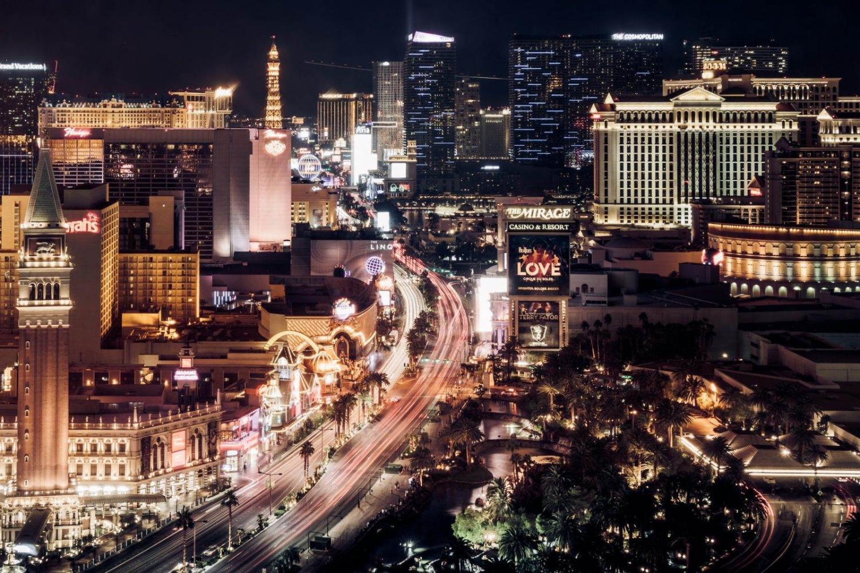 Vista nocturna de Las Vegas
