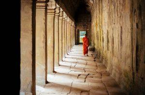 Monje budista en Camboya