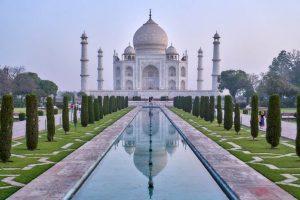 Vista panorámica del Taj Mahal