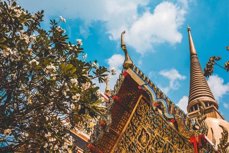 Templo del Buda de Esmeralda o Wat Phra Kaew en Bangkok